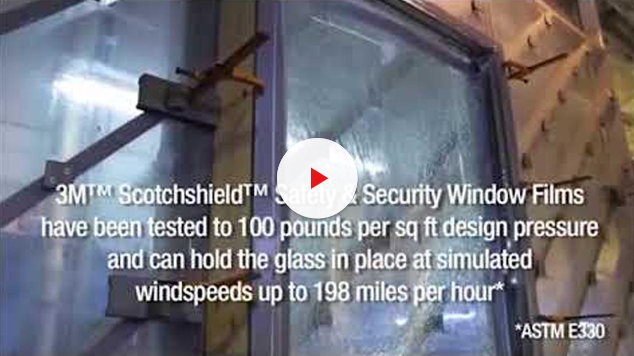 security window film hurricane demonstration video