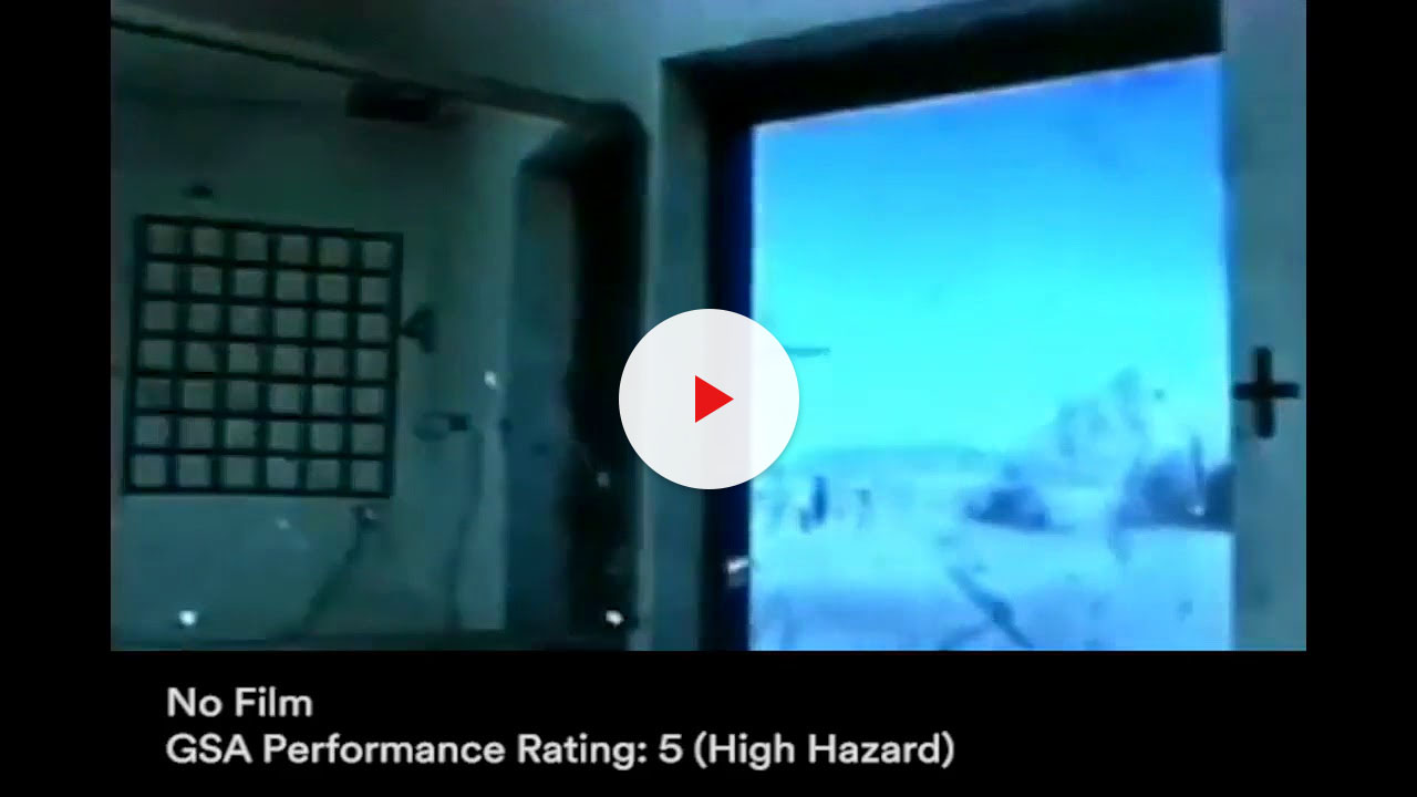 3m bomb blast security window film demonstration video