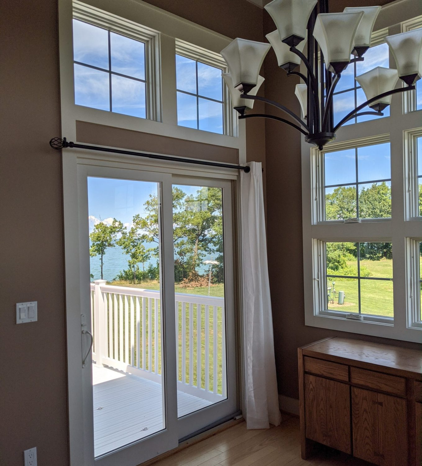 3M PR60 window film Used For Heat and Glare Home Improvement Project in Buffalo, New York Lake Home 2